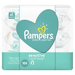 Pampers Sensitive Baby Wipes Travel Unscented, 3
