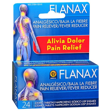 Flanax Pain Reliever Fever Reducer Tablets - 24 ea