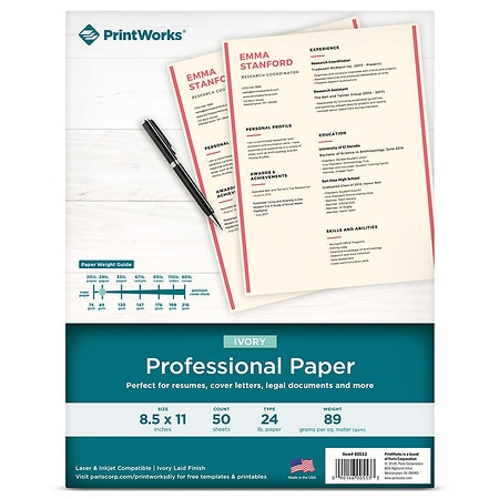 PrintWorks Professional Paper Ivory Laid ...
