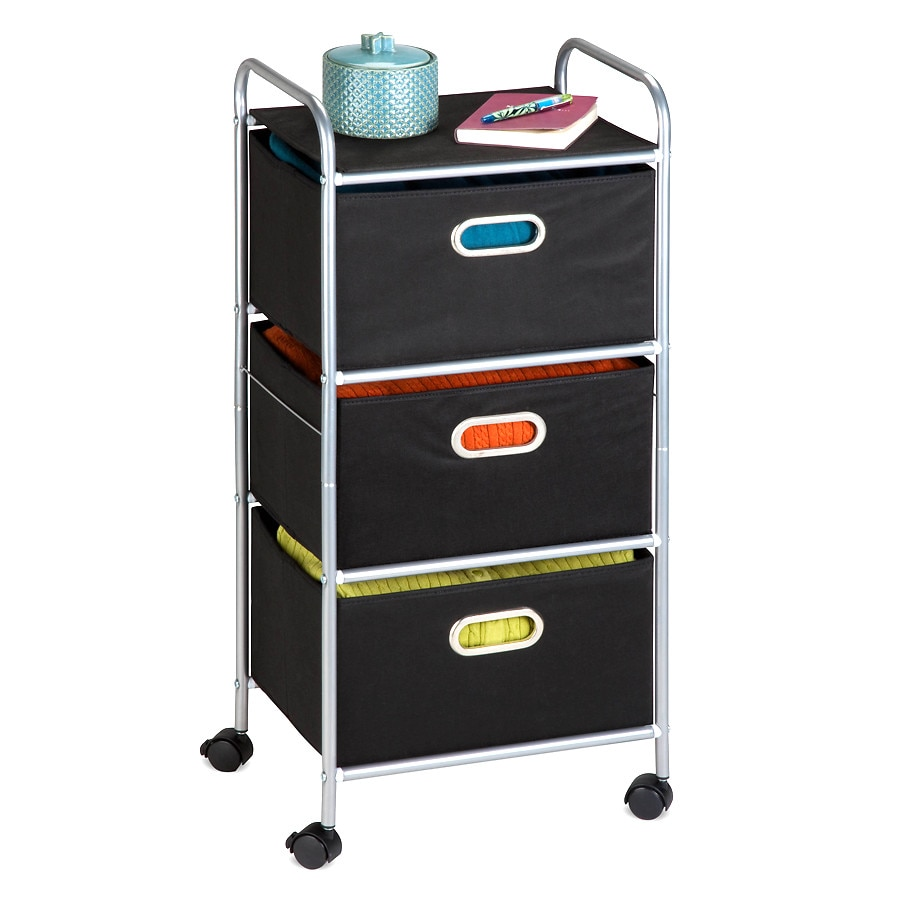 Exceptionnel Honey Can Do 3 Drawer Fabric Storage Cart Silver Black1.0 Ea