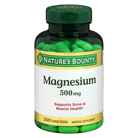 Nature's Bounty Magnesium 500mg Value Size, Tablets - 200 ea