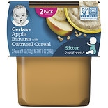 Gerber 2nd Food Puree Apple Banana with Oatmeal Cereal