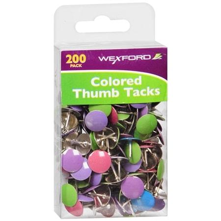 Wexford Colored Thumb Tacks - 200 ea
