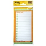 Post-it My List Super Sticky Magnet Notes White
