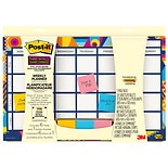 Post-it Weekly Planner plus Super Sticky Adhesive Notes Assorted