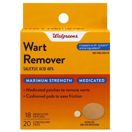Walgreens Medicated Wart Remover Patches - 18 Applications