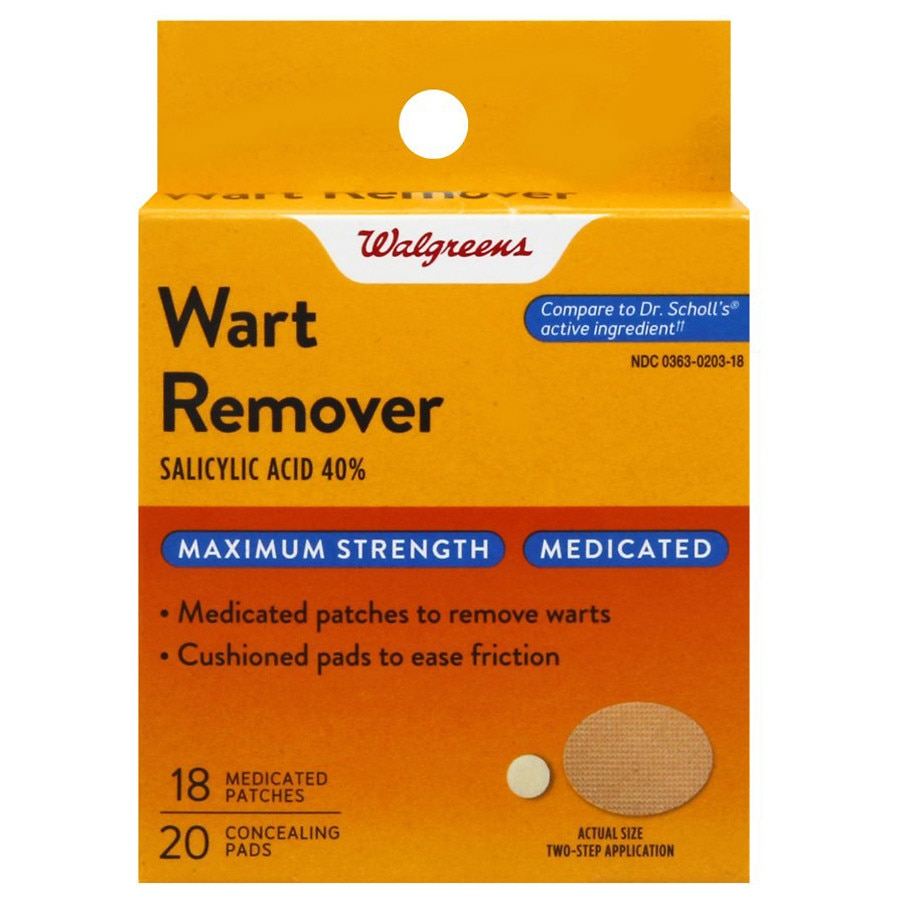 Walgreens Medicated Wart Remover Patches Walgreens
