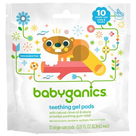 Babyganics Teething Pods - 10 ea