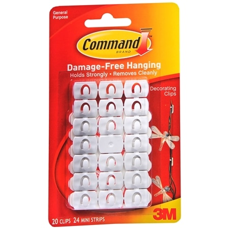 Photo Hanging Clips command strips damage-free hanging clips & strips | walgreens