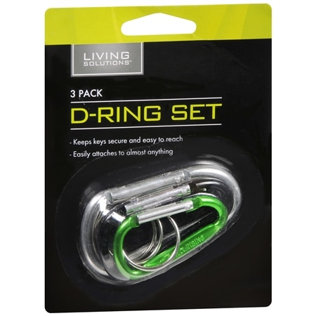 Living Solutions D-Ring Set - 1 ea