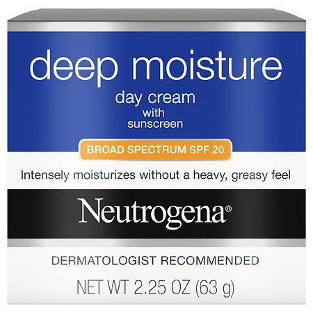 Neutrogena Deep Moisture Day Cream with Sunscreen Broad Spectrum SPF 20 - 3.25 oz.
