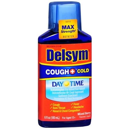 Delsym Adult Liquid Cough + Cold Daytime, Berry - 6 fl oz
