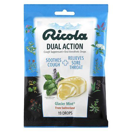 Ricola Cough Suppressant Drops Glacier Mint - 19 ea