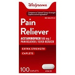 Walgreens Pain Reliever, Extra Strength, Caplets