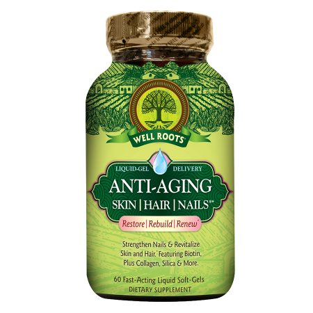 Well Roots Anti-Aging Skin Hair Nails, Softgels - 60 ea