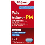 Walgreens Extra Strength Pain Reliever PM Caplets