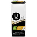 U by Kotex Absorbent Pantiliners, Individually Wrapped Unscented, Long