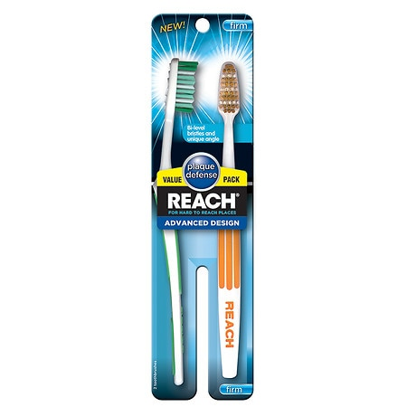 Reach Advanced Design Firm Value Pack Adult Toothbrushes - 2 ea