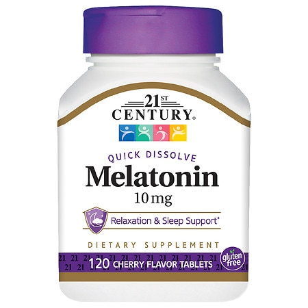 Image of 21st Century Quick Dissolve Melatonin 10mg, Tablets Cherry - 120 tabs