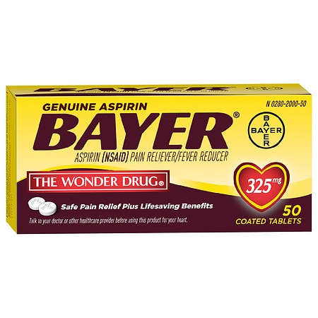 Bayer Aspirin Pain Reliever, 325mg Tablets - 100 ea