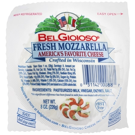 BelGioioso Cheese Balls Mozzarella - 8 oz.