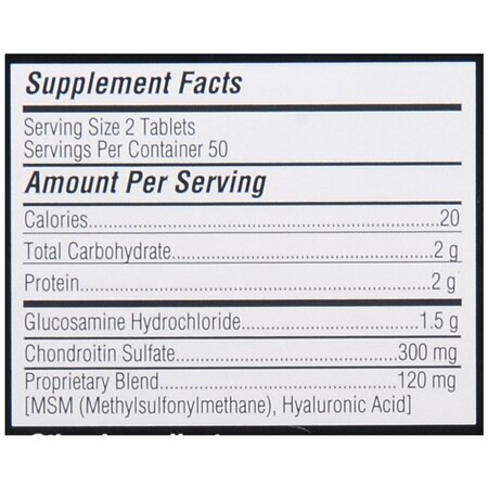 X Ray Dol Glucosamine Chondroitin, Tablets | Walgreens