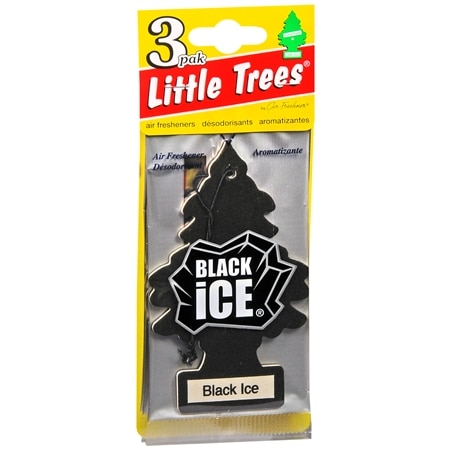 Little Trees Air Fresheners Black Ice - 3 ea