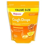 Walgreens Cough Drops Honey Lemon