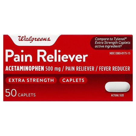 Walgreens Extra Strength Pain Reliever Caplets - 100 ea