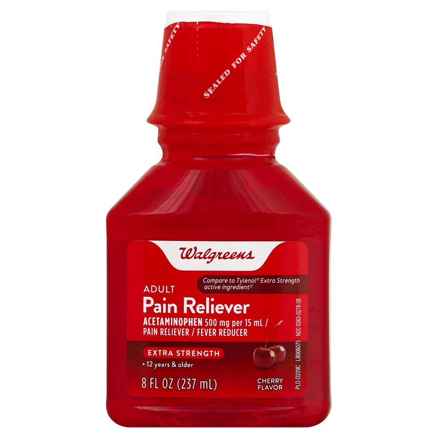 walgreens extra strength pain reliever liquid cherry walgreens