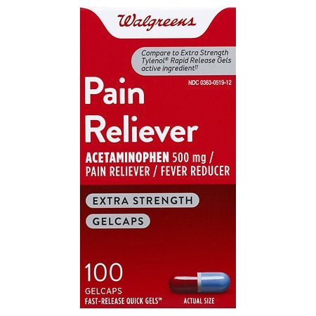 Walgreens Extra Strength Pain Reliever Gelcaps - 150 ea
