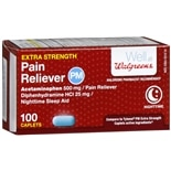 Walgreens Pain Reliever PM Caplets