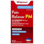 Walgreens Pain Reliever PM Geltabs