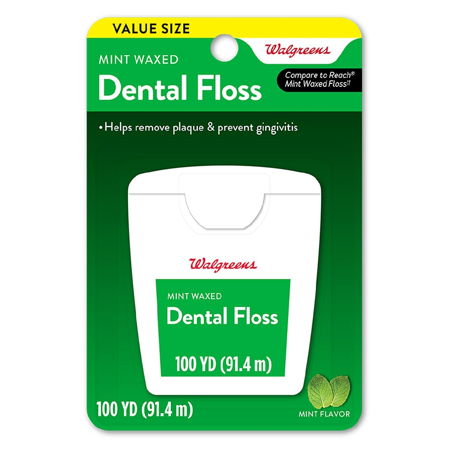 Walgreens waxed dental floss mint walgreens product large image reheart Gallery