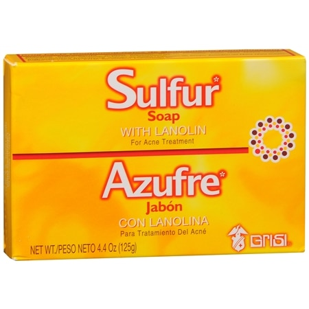 grisi sulfur soap with lanolin for acne treatment walgreens