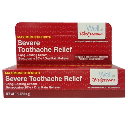 Walgreens Severe Tooth Ache Relief Paste - 0.33 oz.
