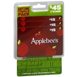 Applebees 3 Pack - $15 Gift Cards