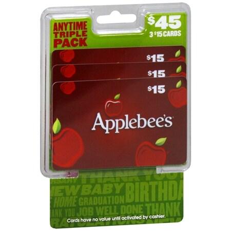 Applebees 3 Pack - $15 Gift Cards - 1 ea