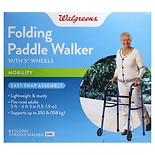 Walgreens Folding Walker with Wheels