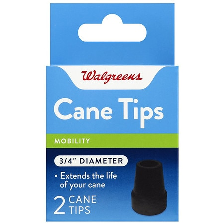 Walgreens Rubber Cane Tips 3/4 Inch - 1 ea