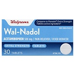 Walgreens Wal-Nadol Acetaminophen 500 mg Pain Reliever/ Fever Reducer Tablets