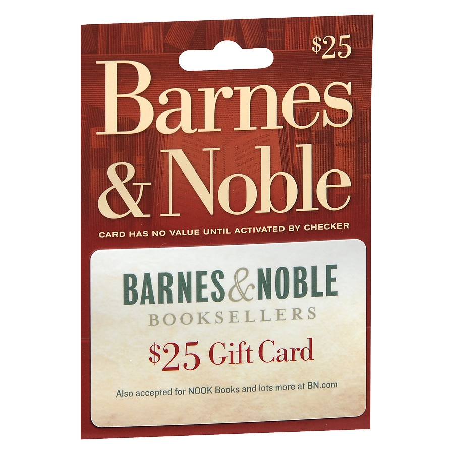 image relating to Barnes and Noble Printable Gift Card titled Barnes Noble $25 Present Card Walgreens