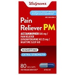 Walgreens Pain Reliever PM Gelcaps