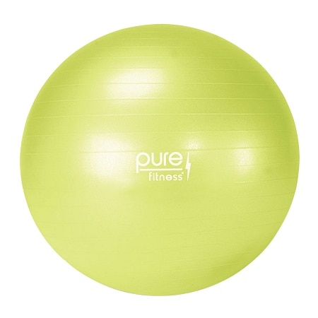 pure fitness fitness ball with pump lime