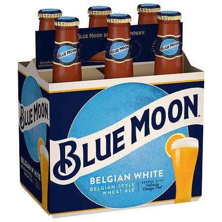Blue Moon Beer Belgian White - 12 oz. x 6 pack