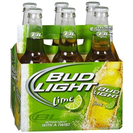 Budweiser Light Beer Lime - 12 oz. x 6 pack
