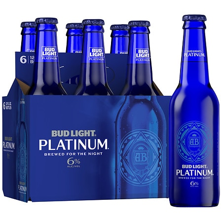 Bud Light Platinum Beer - 12 oz. x 6 pack