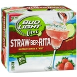 Budweiser Light Beer Straw-Ber-Rita