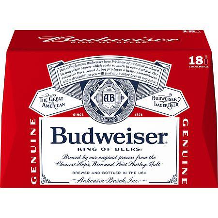 Budweiser Beer - 12 oz. x 18 pack