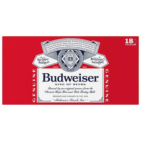 Budweiser Beer - 12 oz. x 18 pack